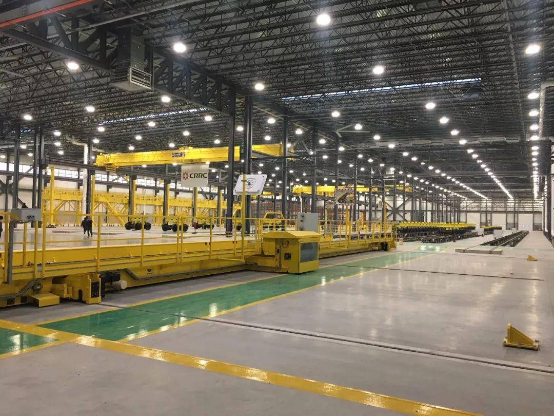 ▲中车长客美国春田工厂内部。