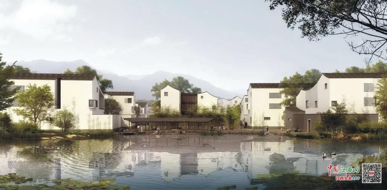 景德镇陶瓷工业园区农村民居宛如一幅幅江南水墨画