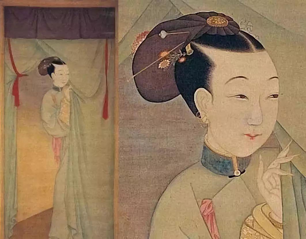 美人手绘图清朝