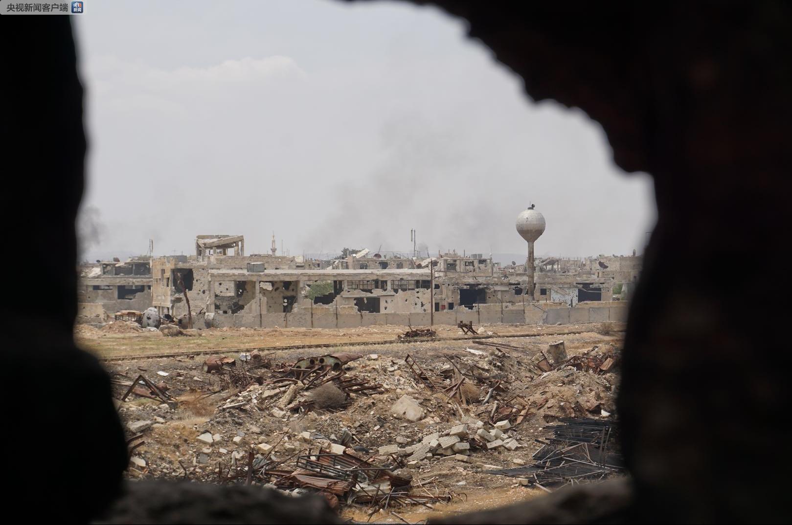 """叙媒称""""多处叙军事目标""""遭袭 部分地区传出巨大爆炸声"""