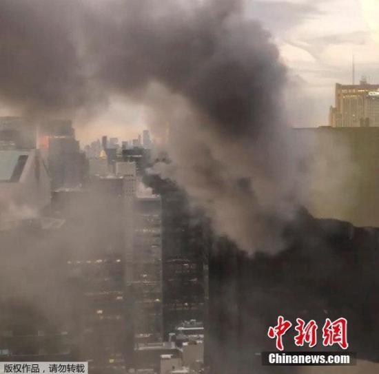 纽约曼哈顿特朗普大厦发生火灾致5人受伤