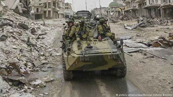 ▲俄罗斯坦克在叙利亚(德新社)
