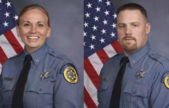 两名警员中枪身亡。(图片来源:美联社)