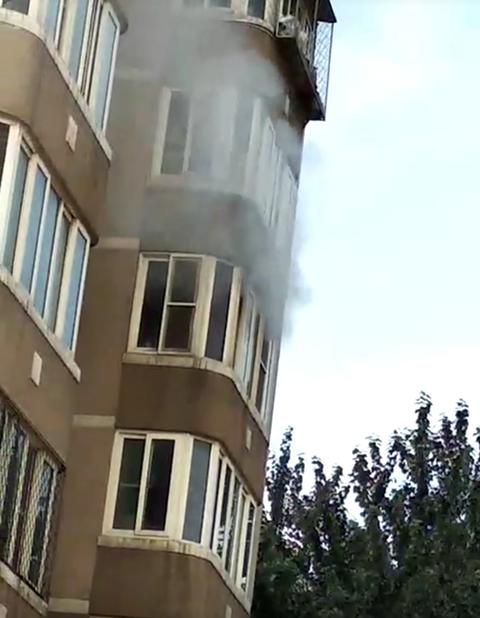 房山燕化星城一住宅爆燃现场。受访者供图