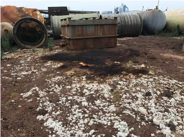 地面土壤已被污染图片来源:生态环境部官微
