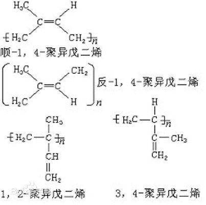 反式聚异戊二烯因为立体结构的关系,比顺式聚异戊二烯普遍要来得更硬