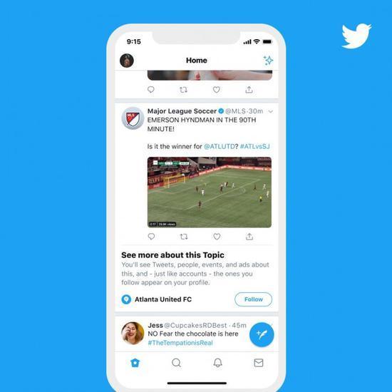 "Twitter推""话题""功能:让用户关注感兴趣的话题"