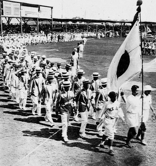 (图为1917年第三届远东运动会开幕式)