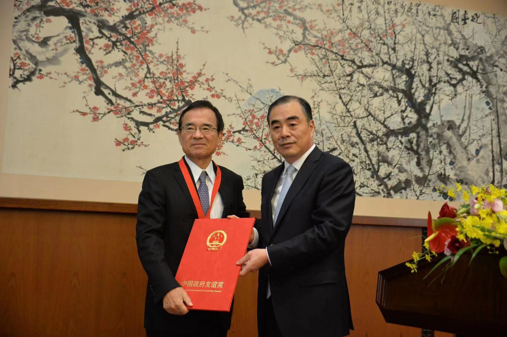 我驻日使馆举行中国政府友谊奖获奖者祝贺会,日本专家感叹中国发展速度太快了