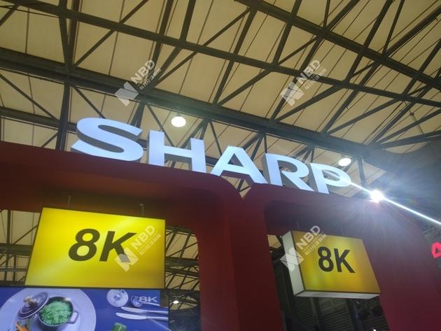 夏普8K展台 图片来源:每经记者 张虹蕾 摄