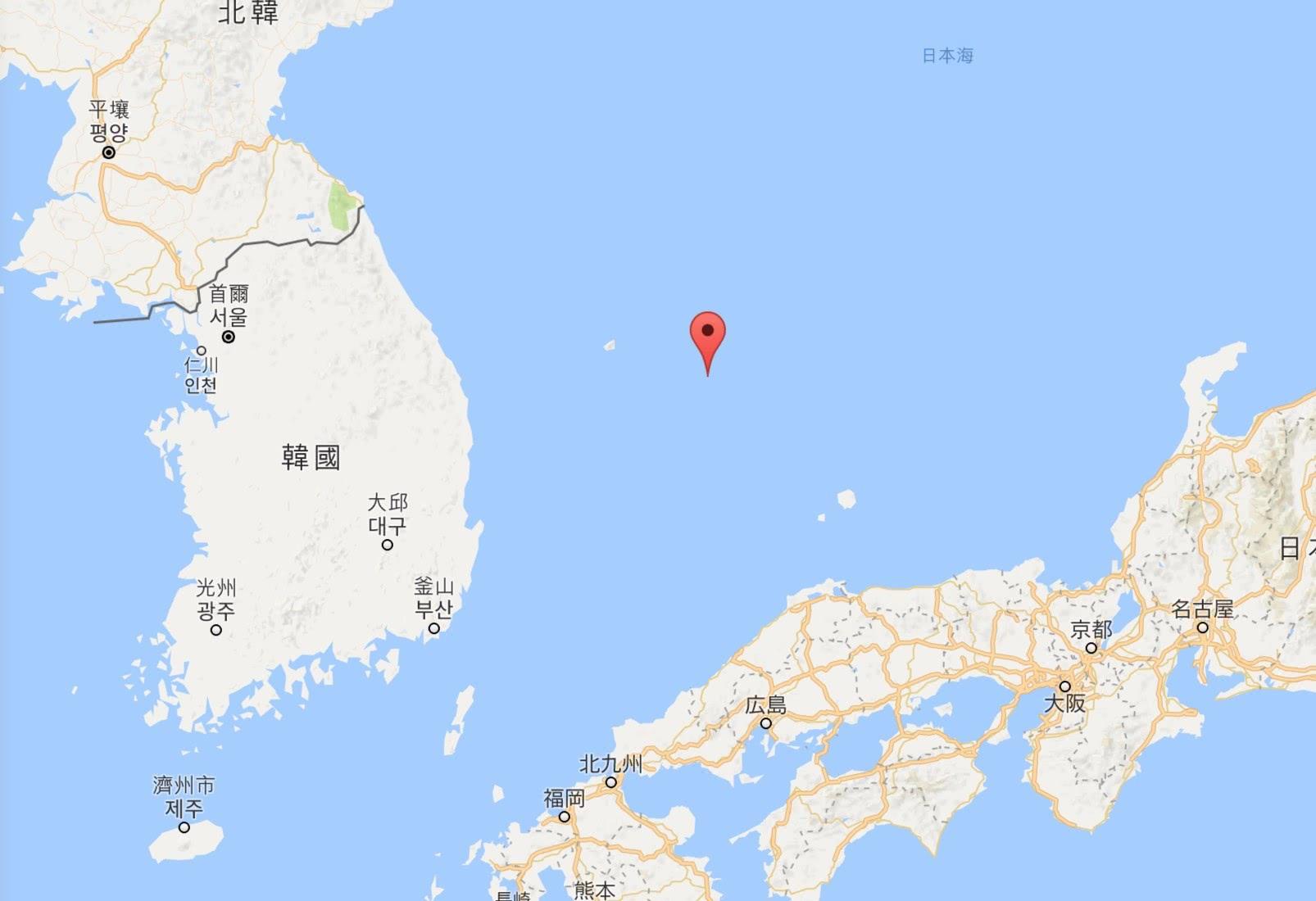 独岛(竹岛)地位表示 图自谷歌舆图