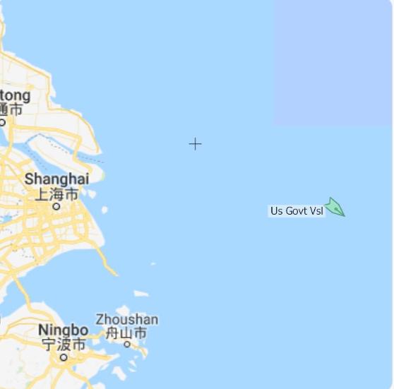 今年2月份,美国海岸警卫队伯索夫号进入宁波以东海域进行巡逻,该海域虽然是公海,但美国军舰出于各种考量无法在此处巡逻 图源:社交媒体