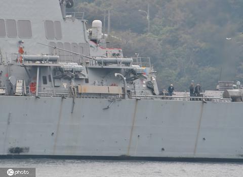 """美军""""硫磺岛""""号两栖攻击舰起火 11名水兵受伤"""