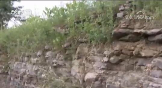 大巴所撞的石墙
