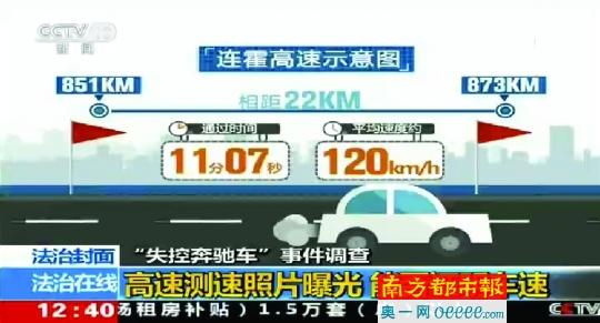 """""""失控奔驰""""测速曝光!时速约120km/h"""