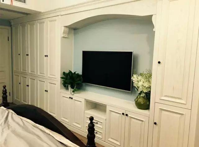 卧室衣柜 电视柜的n种组合,实用又舒心! 电视柜 衣柜