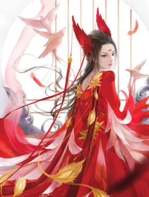 十二星座专属手绘古风红色长裙,金牛座是凤凰裙,双鱼座一见倾心