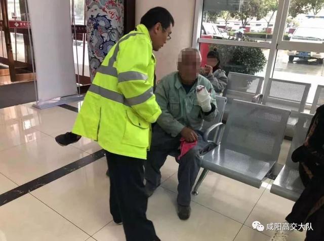 """男子务工受伤断指 咸阳交警上演""""生死时速"""""""