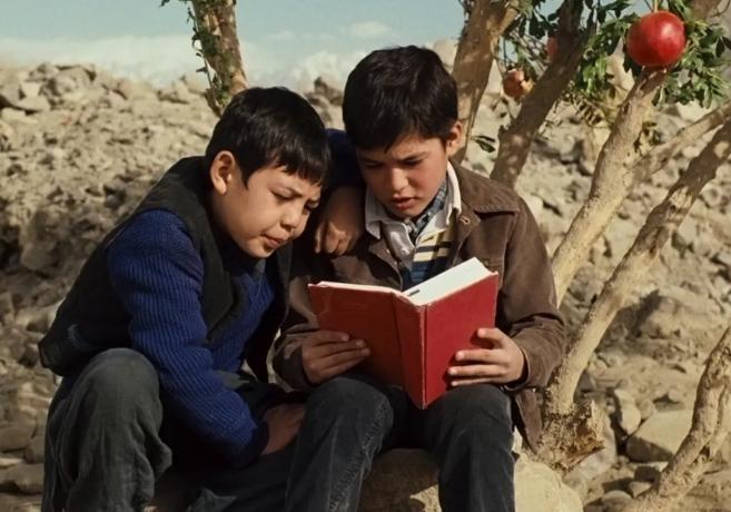 电影《追风筝的人》剧照,其中哈扎拉人哈桑(左)的形象深入人心