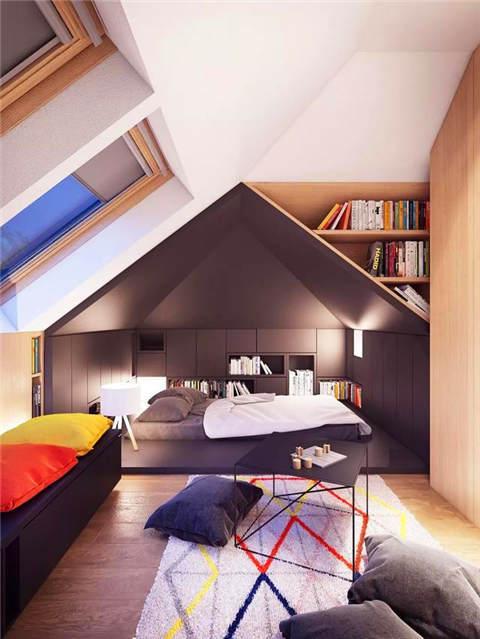 榻榻米已经落伍了,现在一体化的地台卧室设计正流行