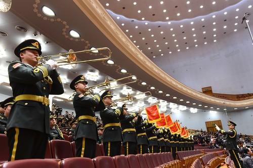 图:解放军军乐团在进行军乐演奏。孙晓萌摄