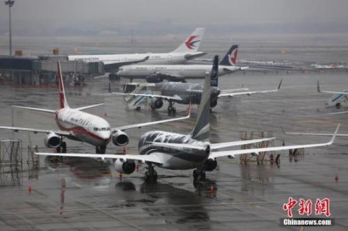 资料图:上海虹桥机场。 中新社记者 殷立勤 摄