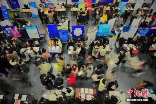 资料图:天津举行的一场招聘会 。 中新社记者 佟郁 摄