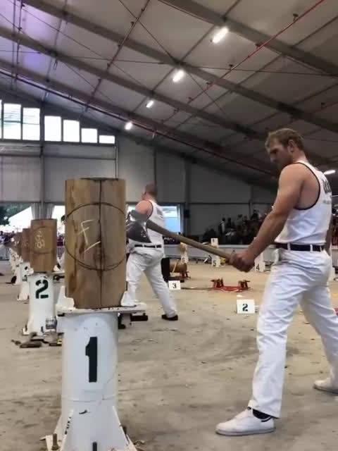 国外伐木工人专业技能比赛,场面相当硬核!!!