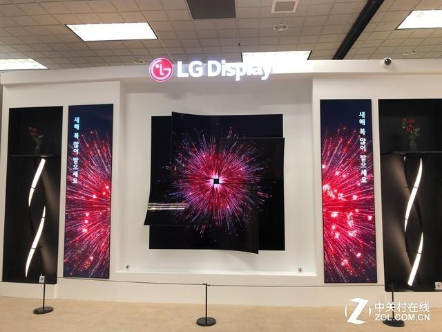 "LG Display在CES 2019上展出的""THE ROSE""展项"