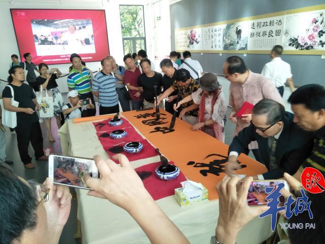 海内外华人同为祖国庆生,70米书画长卷作品展在广州开幕