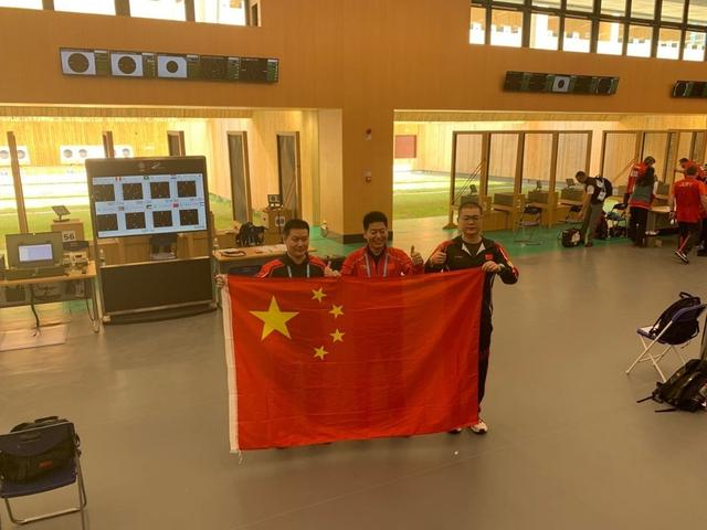 男子25米手枪军事速射 中国队射落军运会首金