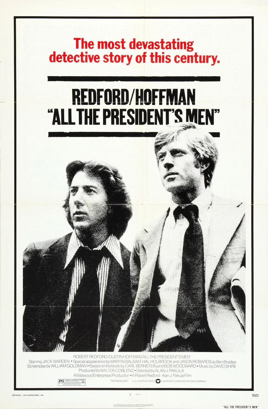 """1976 movie """"All the President's Men"""" ( 《总统班底》 )"""