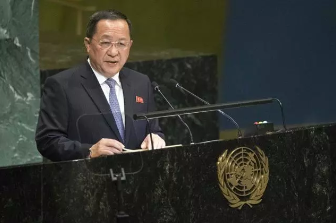 资料图:参加联合国大会的外相李勇浩 图源:联合国