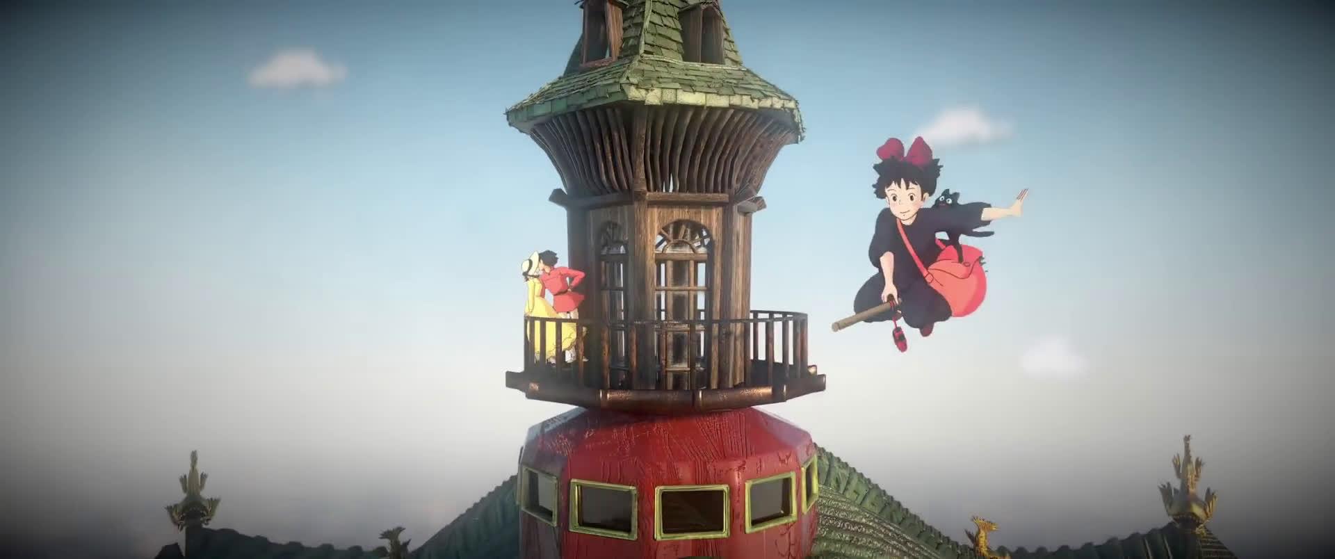 3D技术重现宫崎骏动画电影,如梦般的场景,太治愈了吧