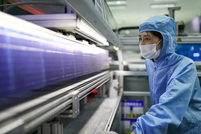 ▲中国在太阳能电池板制造领域已是世界领先。(路透社)