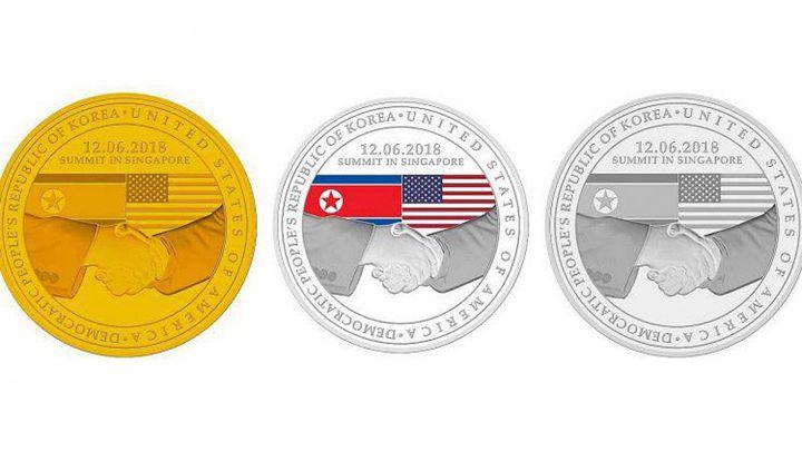 """新加坡造币厂""""金特会纪念章""""。"""