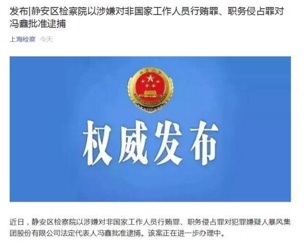 谜底揭晓!暴风集团实控人冯鑫被捕事涉两项罪名,业绩巨亏诉讼缠身,