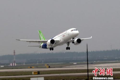图为C919国产大飞机。中新网记者 张亨伟 摄