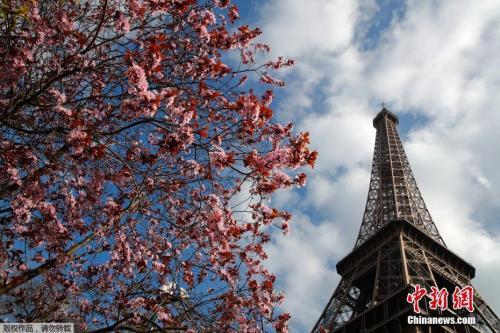 资料图:法国埃菲尔铁塔。