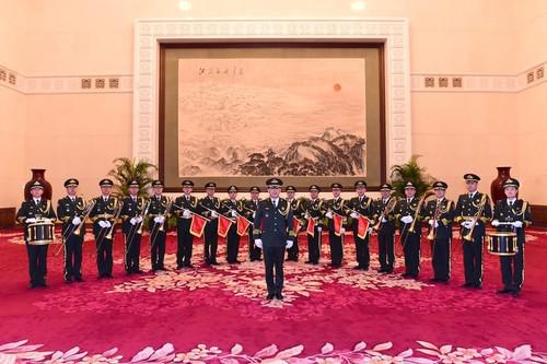 图:宪法宣誓仪式音乐演奏者合影。孙晓萌摄