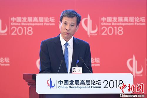 """3月25日,中国新任财政部部长刘昆在北京就""""全球视角下的中国财税体制改革""""话题发言。 中新社记者 崔楠 摄"""