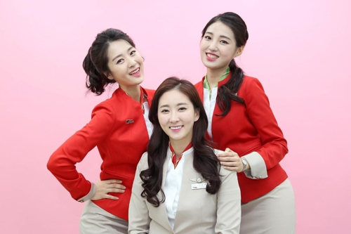 韩国一航空公司允许空姐烫染发 制服可选主题