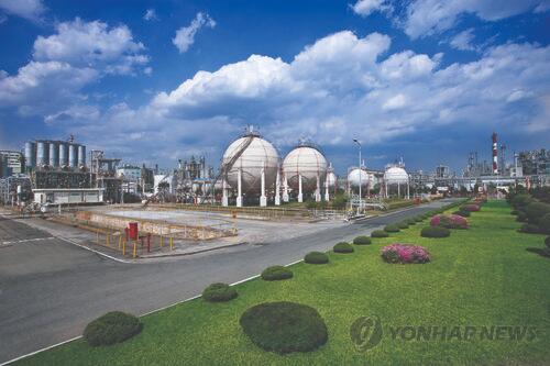 韩华化学蔚山工厂(图片来源:韩联社)