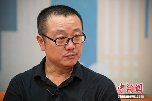 资料图:刘慈欣。中新网记者 李卿 摄