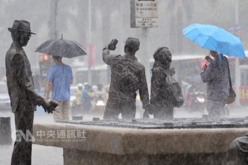 """下雨情形 台湾""""中央社""""图"""