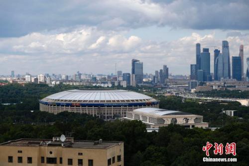 2018年俄罗斯世界杯将在莫斯科卢日基尼体育场开幕。 中新社记者 富田 摄