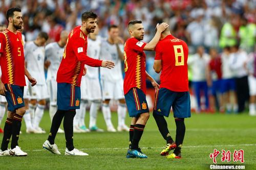 資料圖:耶羅麾下的西班牙隊在今年世界盃1/8決賽慘遭淘汰