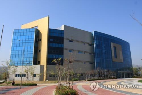 資料圖片:韓朝聯絡辦公室大樓全景,攝於9月12日。(韓聯社)