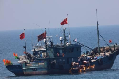 韩国海警扣押5艘中国渔船