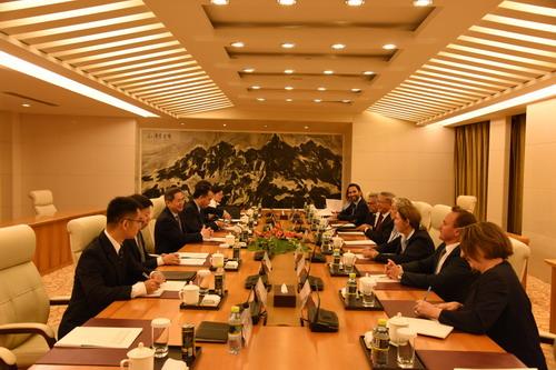 外交部副部长郑泽光会见美国国会议员代表团